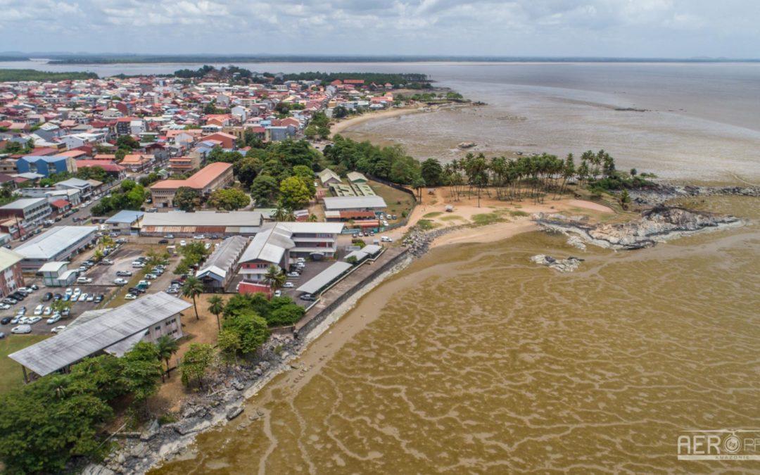 📷 – Relevé topographique du littoral de Cayenne et Rémire
